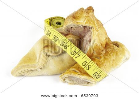 Sausage Roll With Pork Pie, Pasty And Tape Measure