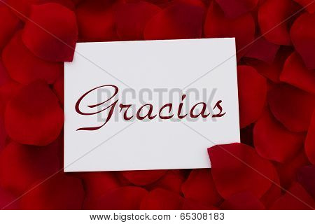 Thank You Note In Spanish Gracias