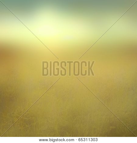 Abstract blurred landscape in vintage style.
