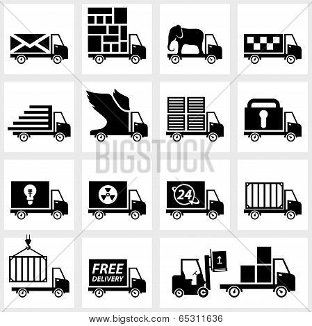 Vector icon set delivery