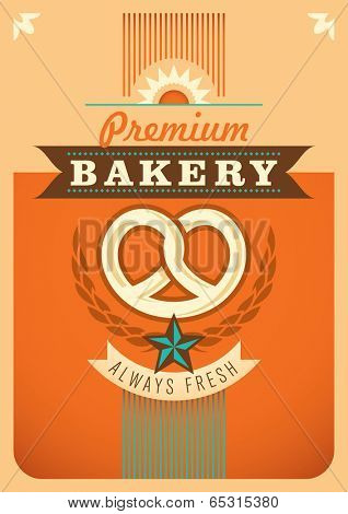 Bakery poster design. Vector illustration.