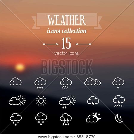 Vector blurred background - template for eco website or leaflet.