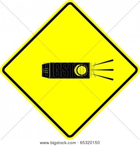 video projector sign