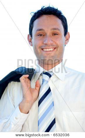 Retrato de homem de negócio amigável
