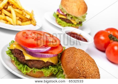 Two Big Cheeseburgers