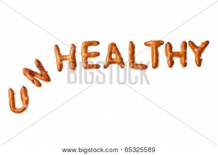Alphabet Pretzel Written Word Unhealthy Isolated