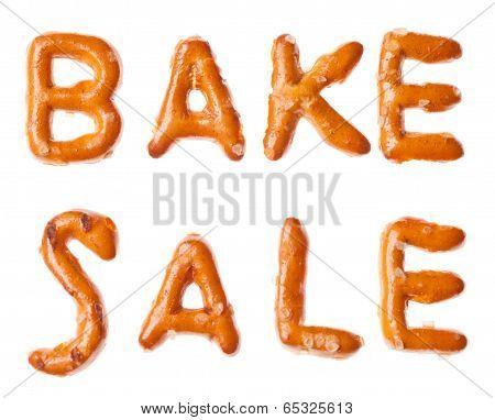 Alphabet Pretzel Written Words Bake Sale Isolated