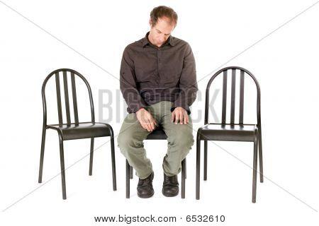 Alone Depressed Man