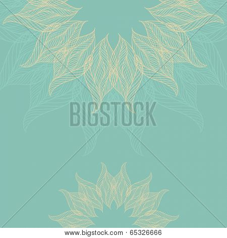 Abstract background with lacy flower. Vector illustration