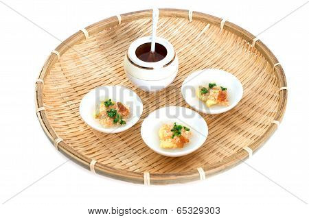 Vietnamese Banh Beo Is A Variety Of Small Steamed Rice Cake Or Rice Pancake In Vietnamese Cuisine
