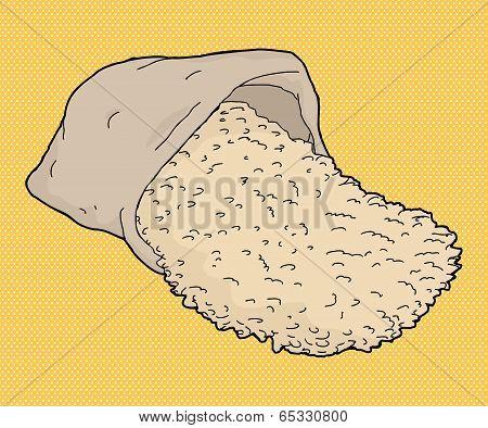 Rice Bag Cartoon
