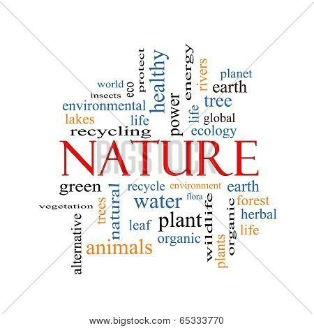 Nature Word Cloud Concept