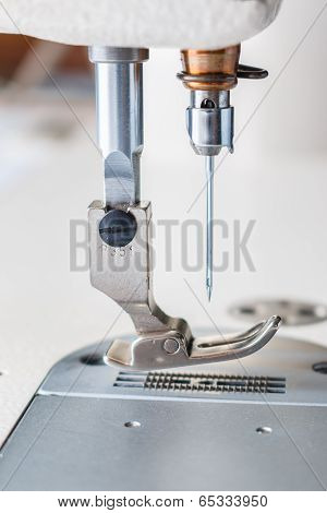 Closeup Of Sewing Machine.