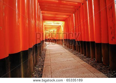 red Torei column