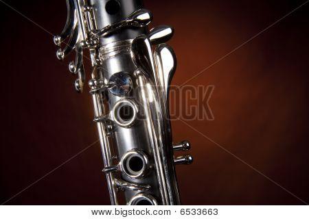 Clarinet Isolated Gold Spotlight