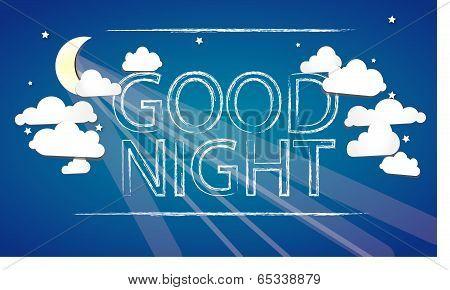 Good Night on the sky