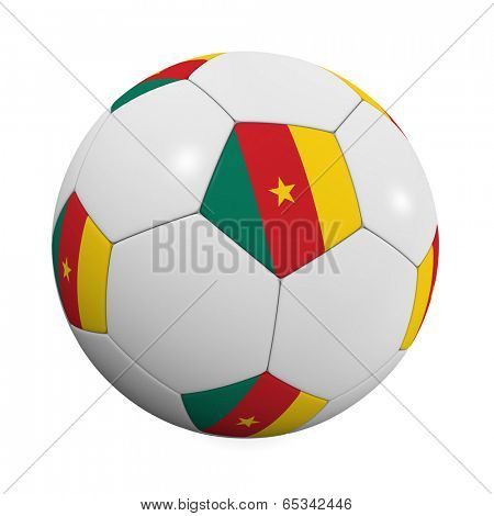 Cameroonian Soccer Ball - very highly detailed Cameroonian Soccer ball