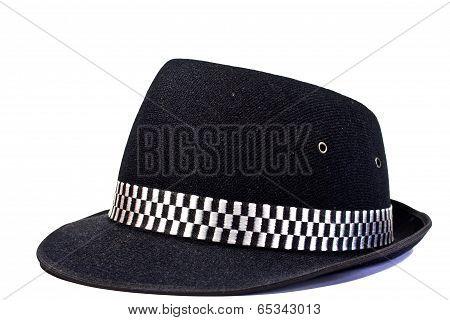 Fashion Bowler Hat On White Background