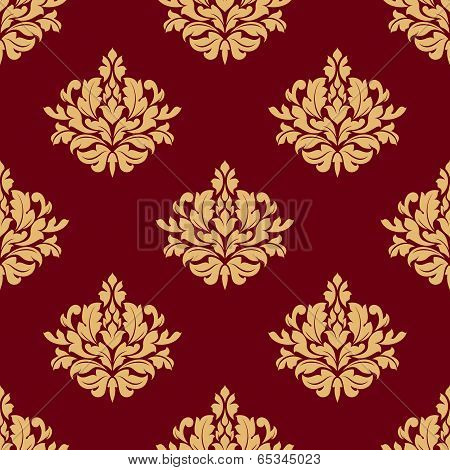 Pretty maroon damask style floral design