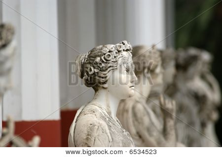 Palace Of Ahilleo, Island Corfu, City Of Corfu, Ionian Sea, Greece