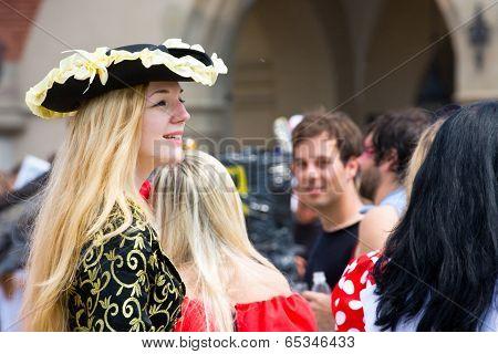 Krakow, Poland - May 10, 2013: Juwenalia, Is An Annual Students' Holiday In Poland, Usually Celebrat