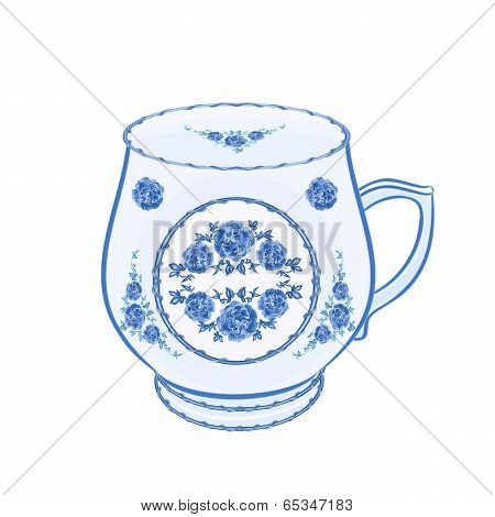 Mug Of Faience  Vector Without Gradients