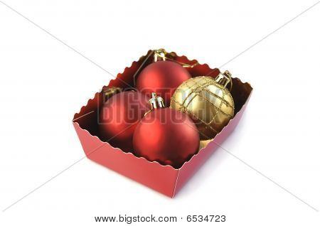 Christmas Balls In The Box.