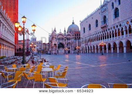 Morning On The Piazza San Marco. Venice