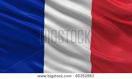 Flag of France waving in the wind