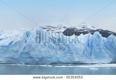 Patagonian Landscape With Glacier. Perito Moreno. Argentina