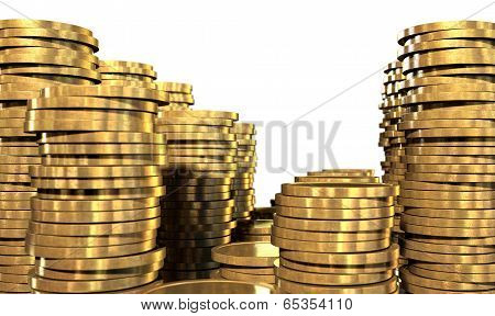 Gold Coin Stacks