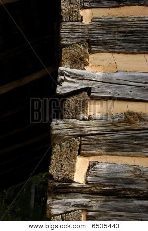 Dovetail Joints Of Log Cabin