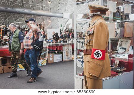 Nazi Uniform On Display At Militalia In Milan, Italy