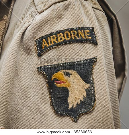 American Sleeve Patch At Militalia In Milan, Italy
