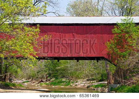 Covered Bridge Crossing Creek