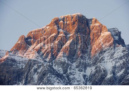 Sunrise in Telera Peak, Partacua Mountains, Tena Valley, Pyrenees, Huesca, Aragon, Spain