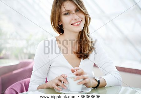 Holding a cup