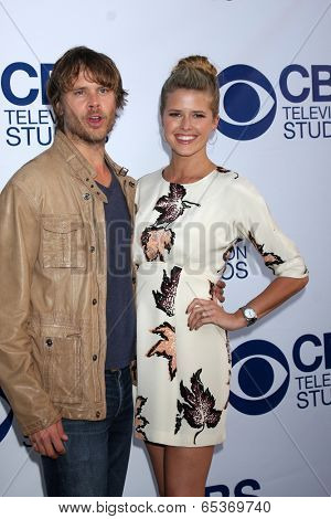 LOS ANGELES - MAY 19:  Eric Christian Olsen, Sarah Wright at the CBS Summer Soiree at London Hotel on May 19, 2014 in West Hollywood, CA