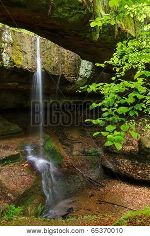 Rock Bridge In Ohio's Hocking Hills