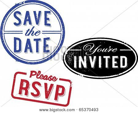Save the Date Invitation Stamps