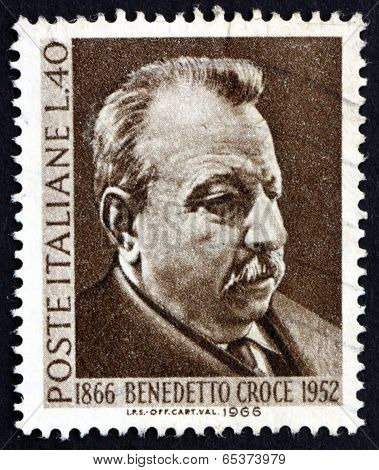 Postage Stamp Italy 1966 Benedetto Croce, Philosopher