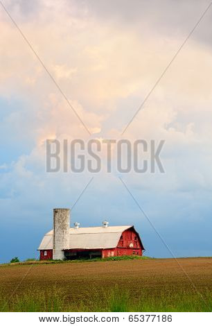 Barn And Evening Sky