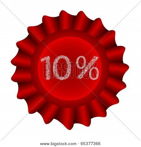 Red Vector Label-10%