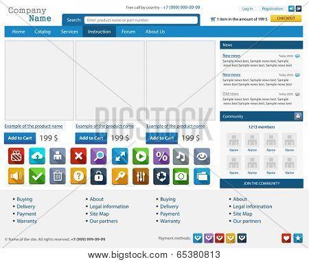 Web design elements set. Online shop. Illustration