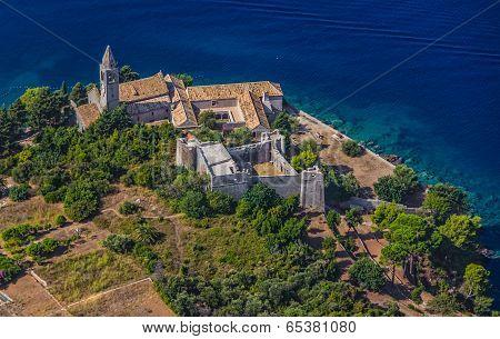 Medieval monastery on the island Lopud