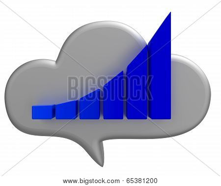 Busihess cloud and chart icon