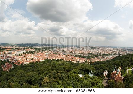 View From Petrin Lookout Tower, Prague - Czech Republic