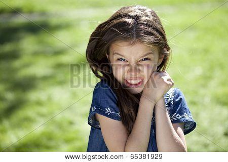 Portrait of beautiful little girl, close up