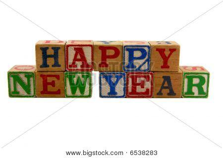Happy New Year Old Blocks