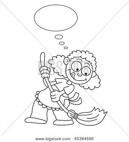 Cartoon Housewife